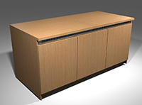 Wilcox single bay AV Rack Credenza by Wilcox Woodworks, Inc.