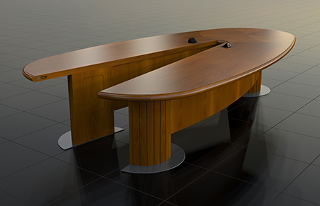 The Director Articulating Conference Table