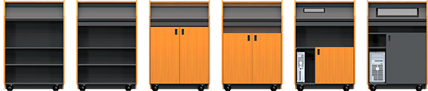 Three Lecterns showing options.
